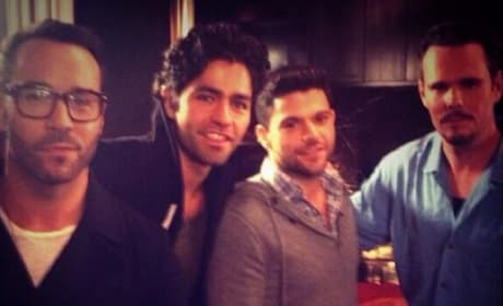 Entourage Cast on Set