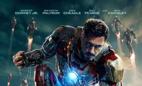 Iron Man 3 Poster: Tony Stark's Damaged Armor