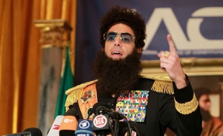 The Dictator Gives a Press Conference: All Hail Aladeen