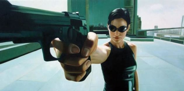 Carrie-Ann Moss as Trinity in The Matrix