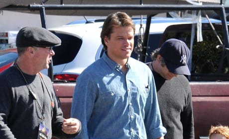 Matt Damon Films We Built a Zoo in Los Angeles