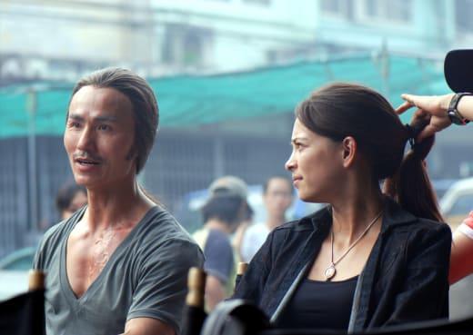 Kristin Kreuk as Chun Li on Set
