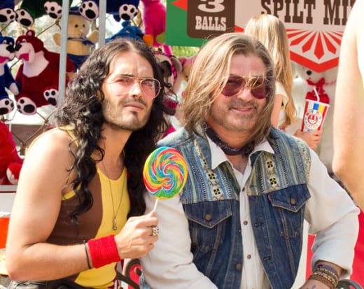 Russell Brand and Alec Baldwin in Rock of Ages