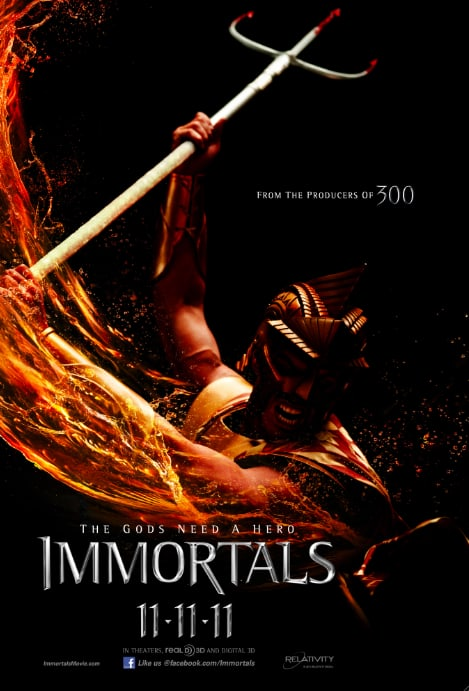 Immortals Character Poster - Poseidon