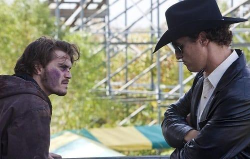 Emile Hirsch and Matthew McConaughey in Killer Joe