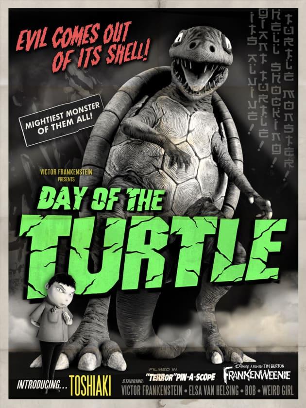 Frankenweenie Turtle Monster Poster