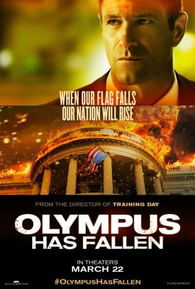 Aaron Eckhart Olympus Has Fallen Poster