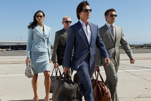 Jeremy Renner, Tom Cruise and Paula Patton in Mission Impossible Ghost Protocol