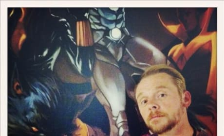 Simon Pegg Ant-Man Photo