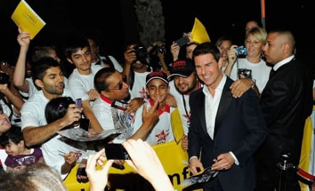 Tom Cruise at the Ghost Protocol Premiere