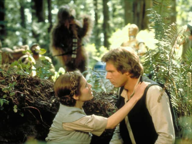 Return of the Jedi Harrison Ford Carrie Fisher