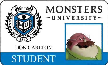 Don Carlton Monsters University Student ID