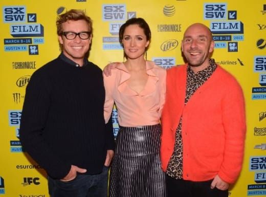Dan Mazer, Rose Bryne and Simon Baker Pic