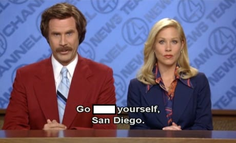Anchorman Christina Applegate Will Ferrell