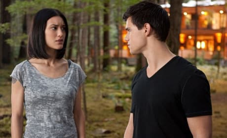 Taylor Lautner and Julia Jones in Breaking Dawn Part 1