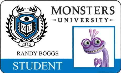 Randy Boggs Monsters University Student ID