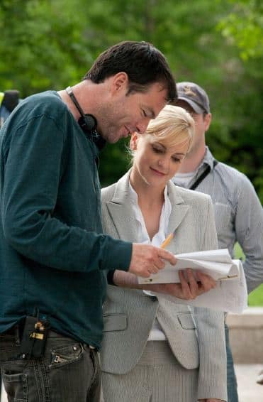 Mark Mylod and Anna Faris on What's Your Number Set