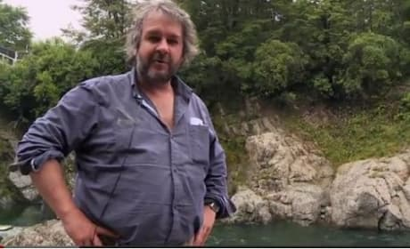 Peter Jackson on Set of The Hobbit