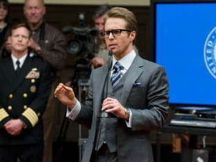 Justin Hammer at a Press Conference