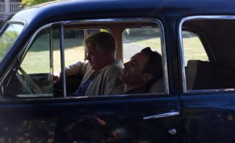 Philip Seymour Hoffman and Joaquin Phoenix in The Master