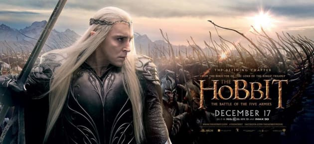 The Hobbit The Battle of the Five Armies Lee Pace Banner