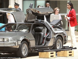 Russell Brand and the DeLorean