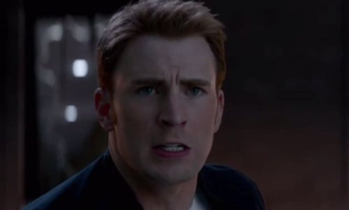 Chris Evans is Captain America in Captain America: The Winter Soldier