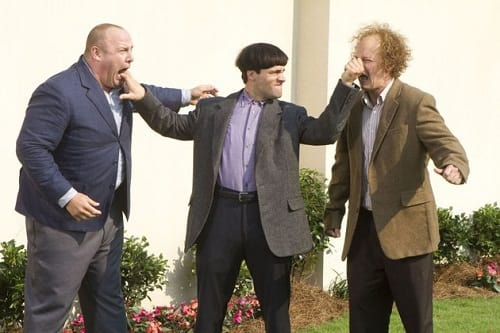 Larry, Curly and Moe in The Three Stooges