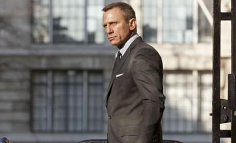 Daniel Craig on Skyfall Set