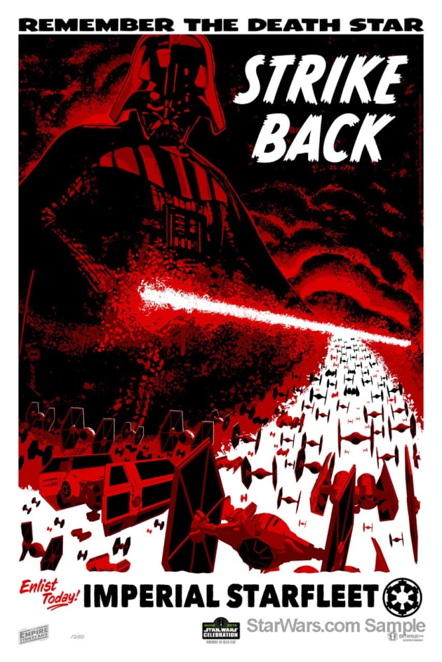 Star Wars Empire Strikes Back Painting