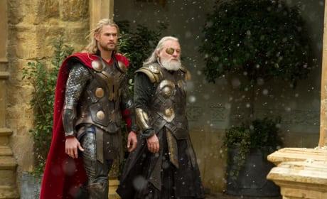 Thor The Dark World Chris Hemsworth Anthony Hopkins