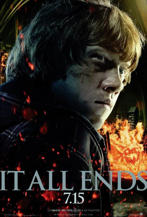 Ron Deathly Hallows Part 2 Poster