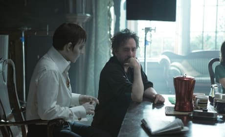 Johnny Depp and Tim Burton on Dark Shadows Set