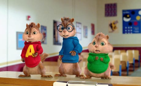 Alvin, Simon and Theodore in Class.