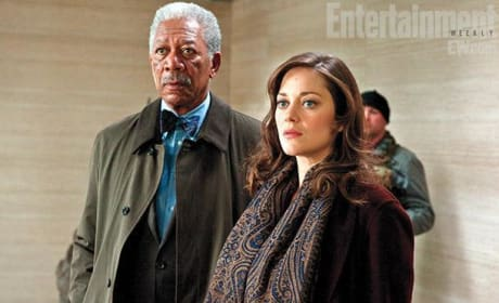 Lucius Fox and Miranda Tate The Dark Knight Rises