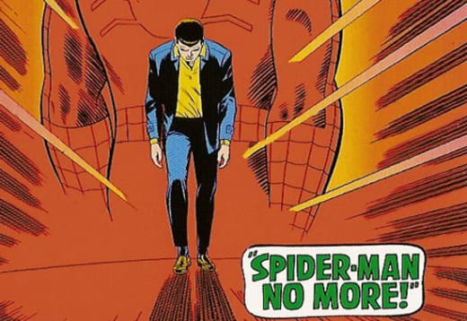 Spider-Man no more!