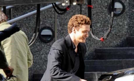 Justin Timberlake On Set