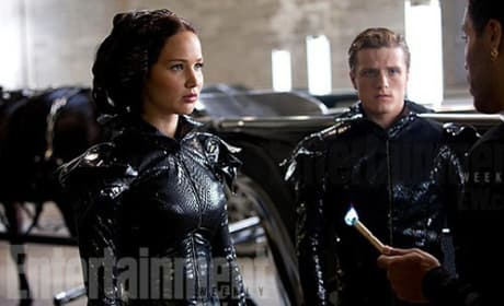 Jennifer Lawrence, Josh Hutcherson and Lenny Kravitz in The Hunger Games