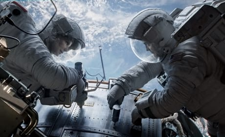 Gravity Photo: George Clooney & Sandra Bullock Stuck in Space