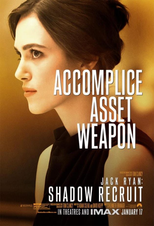 Jack Ryan: Shadow Recruit Keira Knightley Poster