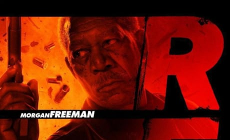 Red Character Poster - Morgan Freeman