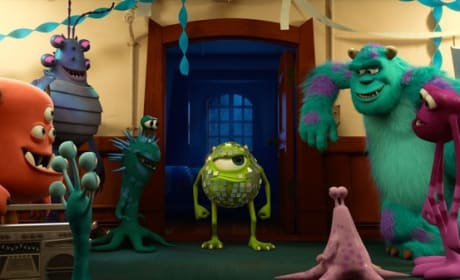 Mike Wazowski and James P. Sullivan Monsters University