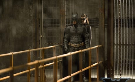 The Dark Knight Rises Still: Batman and Catwoman