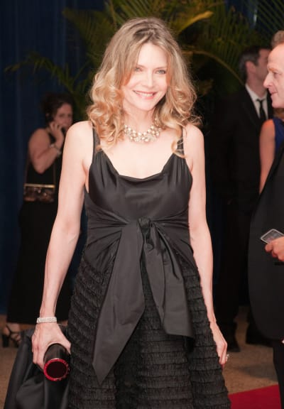 Actress Michelle Pfeiffer attends White House Dinner