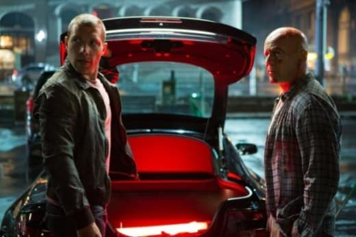 Jai Courtney and Bruce Willis A Good Day to Die Hard