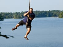 Kevin James on a Rope Swing