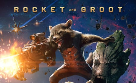 Guardians of the Galaxy Groot Rocket Raccoon Poster