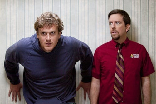 Jason Segel and Ed Helms in Jeff Who Lives at Home