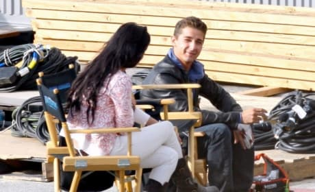 Shia LaBeouf, Megan Fox on Set of Transformers: Revenge of the Fallen