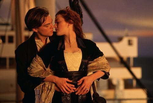 Kate Winslet and Leonardo DiCaprio in Titanic 3D